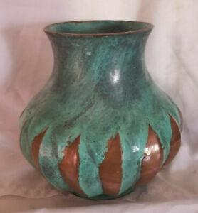 Copper Green Verdigris Pot Vase