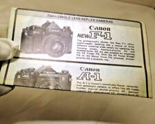 Canon Camera Products Guide English 1970's F-1 A-1 brochure