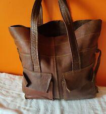 T. joli Sac cabas vintage MNG Accessories en cuir marron TBE