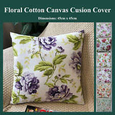 Shabby Chic Flower Floral Print Bloom Cushion Cover Home Decor Throw Pillow Case