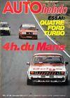 AUTO HEBDO n° 186 . 18 octobre 1979 . 4 heures du Mans .