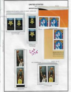 2014 IMPERF PAIRS, MEDAL OF HONOR, JOPLIN AND CHAMBERLAIN LOT 1175