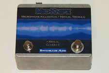 MIC-KNIFE Microphone XLR Killswitch GLITCH ~ Manual Tremolo Pedal ~ Cough Button