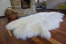 GIANT RUG FOUR SHEEPSKIN White Throw Genuine Leather Sheep Skin Decorative rug
