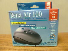 Rena Air 100 Exremely Quiet Aquarium Fish Tanks Air Pump  to 20 Gallons NEW