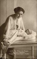Adel Monarchie ~1910 Gräfin Ina Maria von Ruppin mit Sohn Frau Prinz Oscar