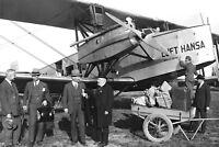 1927 Photo-Deutsche Lufthansa Albatros L 73 named Brandenburg at Stettin Airport