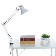 Rocker Armrest Table Lamp Bedside Table Clip Folding Adjustable Desktop Light US