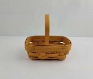 Vintage Longaberger Mini Classic Basket Rectangle With Handle