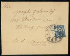 CZECHOSLOVAKIA BOBROVEO COMMERCIAL DECEMBER 31 1920s COVER TO WHITING IND USA