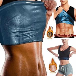 Women Men Sweat Sauna Shaper Slimming Sports Vest Tank Top for Weight Loss #