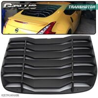 Fits For 2009-2019 Nissan 370Z Matte Black Rear Windshiled Louvers Cover ABS