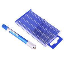 21 pcs mini wwist micro-drill bits set & aluminum hand drill & case~GN