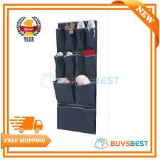 1H&L Russel Over The Door Organiser 11 Pocket Soft Touch Navy Blue 112 x 48.2 Cm