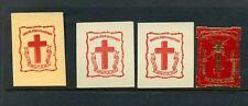 4 Vintage Sang De Jesus Sauvez Nous Poster Stamps (L717) France Blood Of Jesus