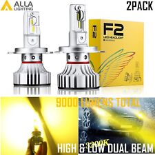 Alla Lighting 9003 H4 LED Headlight High Low Beam Light Bulb Lamp Golden Yellow