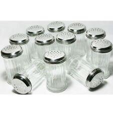 12 Stück Gewürzstreuer Glas mit Edelstahldeckel 300ml Streuer Vorratsgläser