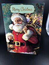 Greeting Card Vintage Christmas 'Merry Christmas' Xmas Vintage Santa
