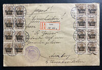 1916 Lodz Poland German Occupation WWI cover To Trensberg