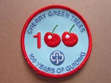 Cherry Green Trees 100 Girl Guides Cloth Patch Badge L5K A