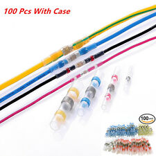 100pcs 4 Sizes Solder Sleeve Heat Shrink Tube Terminal Connectors for Car Wire