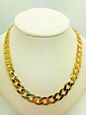 "9ct Yellow Solid Gold Curb Chain – 8.3mm - 22"" **** CHEAPEST  ON  EBAY ****"
