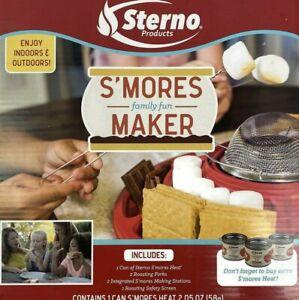Sterno S'Mores Maker - Indoor/Outdoor Campfire Kit - Red - Dishwasher Safe
