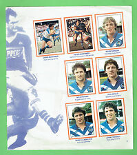 #T19. 1983 RUGBY LEAGUE STICKERS - MAGPIES / CANTERBURY  BULLDOGS