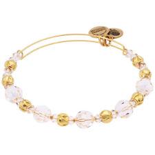 Alex and Ani Blush Swarovski Cristal con pulsera brazalete oro brillante A17EB06SG