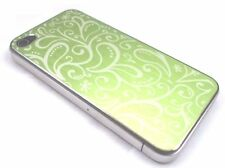 Green Patterned Brushed Metal iPhone 4 Battery Cover Back Plate Housing UK