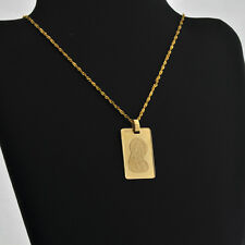"""Handcrafted Madonna & Child 14k Solid Gold Medal /Pendant 1"""" x 1/2"""" w. 2.3 grams"""