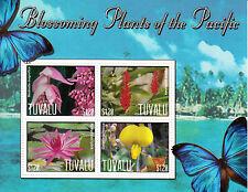Tuvalu 2013 MNH Fioritura Piante di Pacific Ho 4V M / S Farfalle Fiori Natura