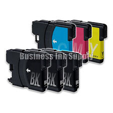 6 PK New LC61 Ink Cartridge for Brother Printer MFC-490CW MFC-J415W MFC-J615W
