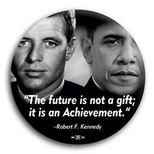 "Robert F Kennedy RFK Barack Obama The Future Democrat Pin Button 3"""