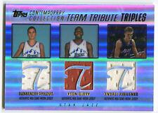 Pavlovic Clark Kirilenko 2004-05 Topps Team Triples GU Jersey Mint Cond 9245