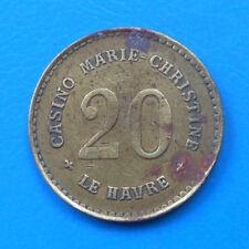 Normandie 76 Le Havre casino Marie-Christine C-H 20 francs Elie 60.2