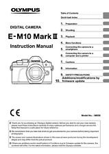 OLYMPUS OM-D E-M10 MK III CAMERA PRINTED USER MANUAL GUIDE HANDBOOK 173 PAGES A5