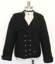 "BOILED WOOL SWEATER JACKET Women Austria THICK & WARM Winter BLACK B42"" 12 M"