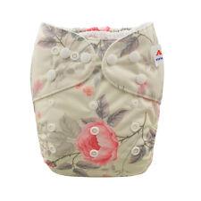 Alva Baby Girl Reusable Washable Pocket Cloth Diaper Nappy +1Insert 6-33lbs
