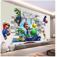 Super Mario Bros Kids Removable Wall Sticker Decals Nursery Home Decor Vinyl Mur