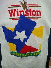 "Vintage 1992 ""WINSTON Texas State Fair"" TSHIRT. Sz XL. NEW in BOX. Color Bleed"