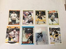 Ray Bourque Quantity 8 Hockey Cards NM Condition Boston Bruins Topps O-Pee-Chee