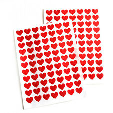 154 Red Heart Stickers 11mm Valentine Wedding Mothers Card Scrapbook Diary Love