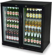 More details for professional beer and wine fridge bar double door back fridge display