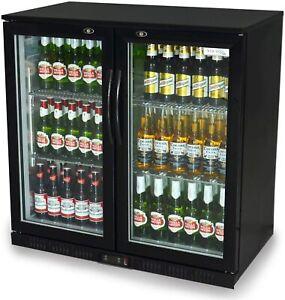 Professional Beer and Wine Fridge Bar Double Door Back Fridge Display