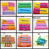 Extra Long Normal Big Hair Curlers Leverag Curlformers Magic Hair Rollers 18Pcs