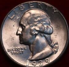 Uncirculated 1939 Philadelphia Mint Silver Washington Quarter