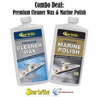 Star Brite Premium Cleaner Wax & Marine Polish w/ PTEF Combo Deal 85732 89632
