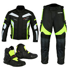 Racing Suit Motorbike Textile Jacket Trouser Waterproof Motorcycle Leather Boots