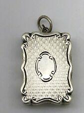 English Sterling Silver Vinaigrette Pendant
